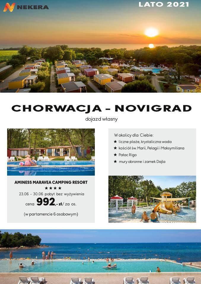 Wczasy Chorwacja Novigrad Camping