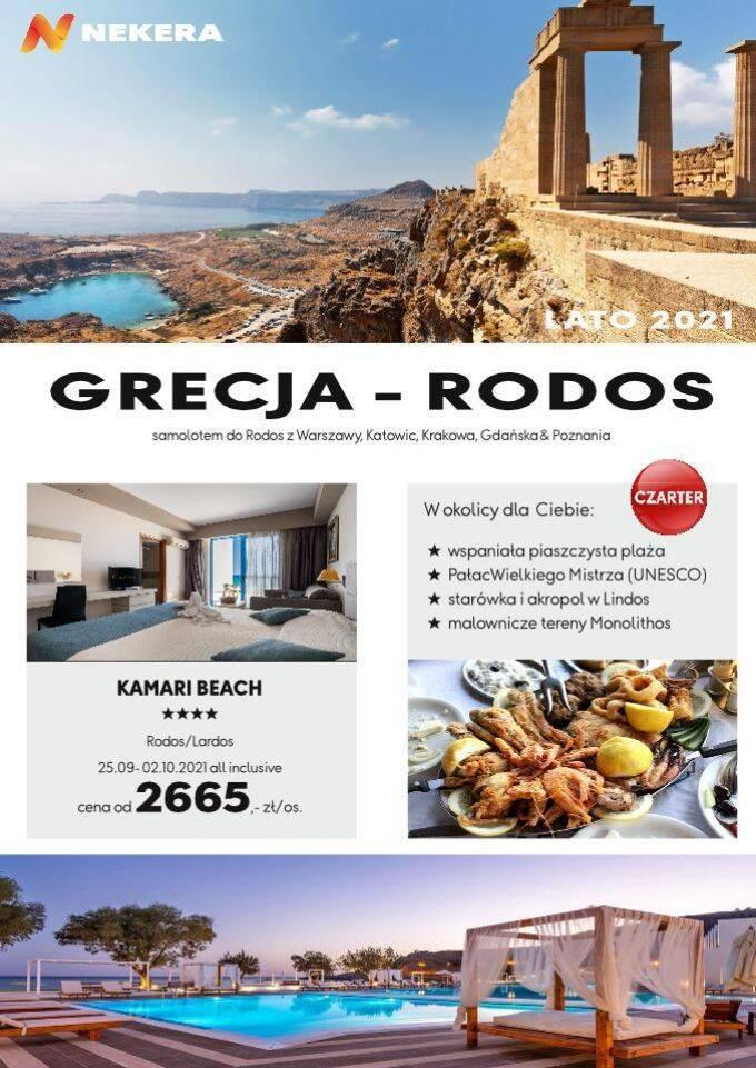 Wczasy Grecja Rodos Kamari Beach